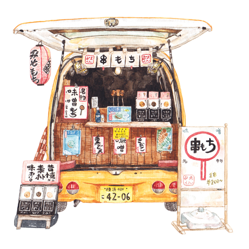 Justine-Wong-Illustration-21-Days-in-Japan-Kamakura-Mochi-Truck.jpg