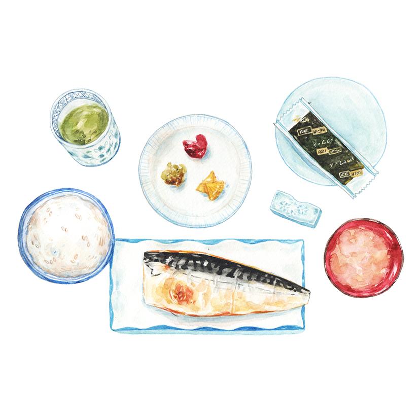 Justine-Wong-Illustration-21-Days-in-Japan-Kyoto-Set-Breakfast.jpg