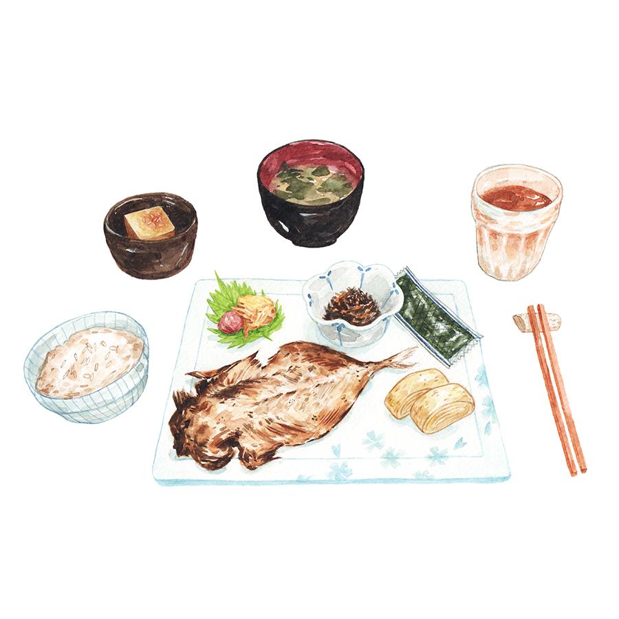 Justine-Wong-Illustration-21-Days-in-Japan-Kyoto-Set-Breakfast-2.jpg
