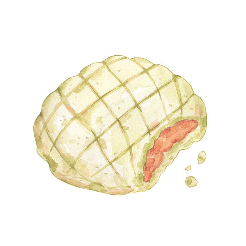 Justine-Wong-Illustration-21-Days-in-Japan-Melon-Pan.jpg
