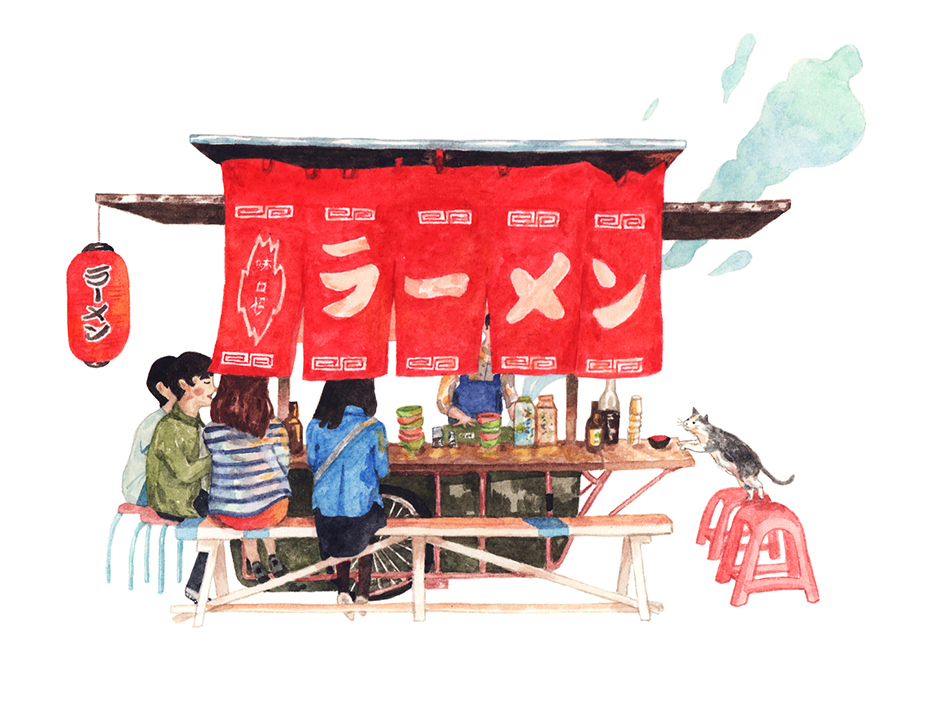 Justine-Wong-Illustration-21-Days-in-Japan-Ramen-Stall.jpg