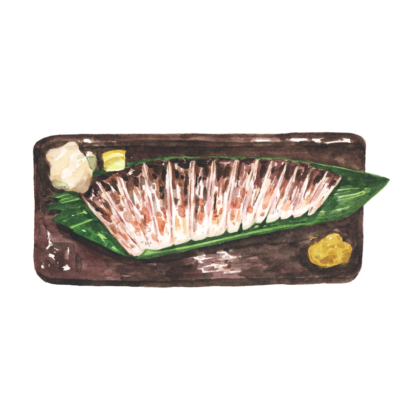 Justine-Wong-Illustration-21-Days-in-Japan-Tokyo-Izakaya-Fish.jpg