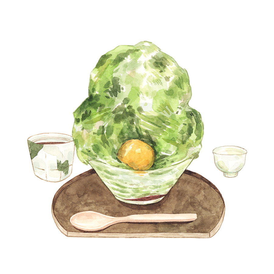 Justine-Wong-Illustration-21-Days-in-Japan-Tokyo-Matcha-Kakigori.jpg