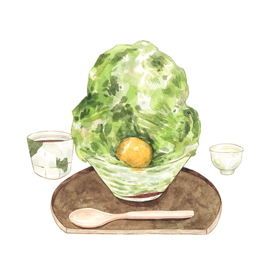 Justine-Wong-Illustration-21-Days-in-Japan-Tokyo-Matcha-Kakigori.jpg