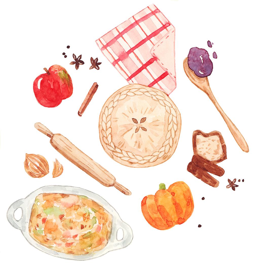 Cuisine Illustration justine wong: toronto freelance illustrator