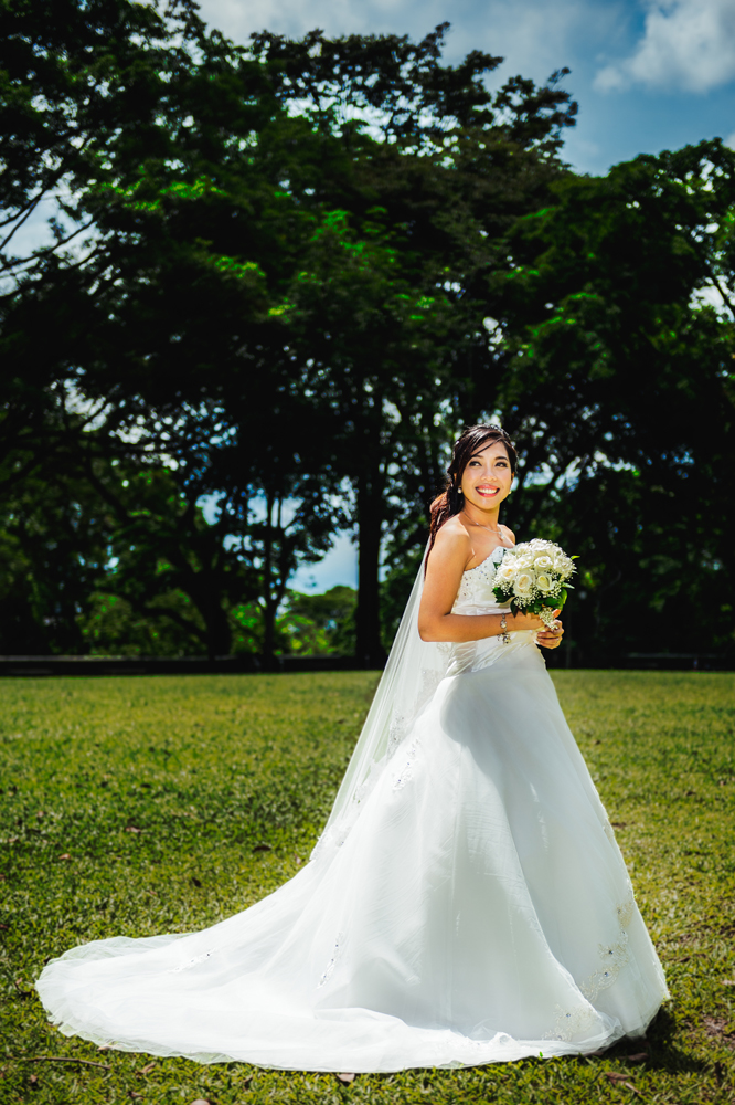 Perfect fit of the wedding gown on the bride, paired together with excellent photography skills by our freelance photographer
