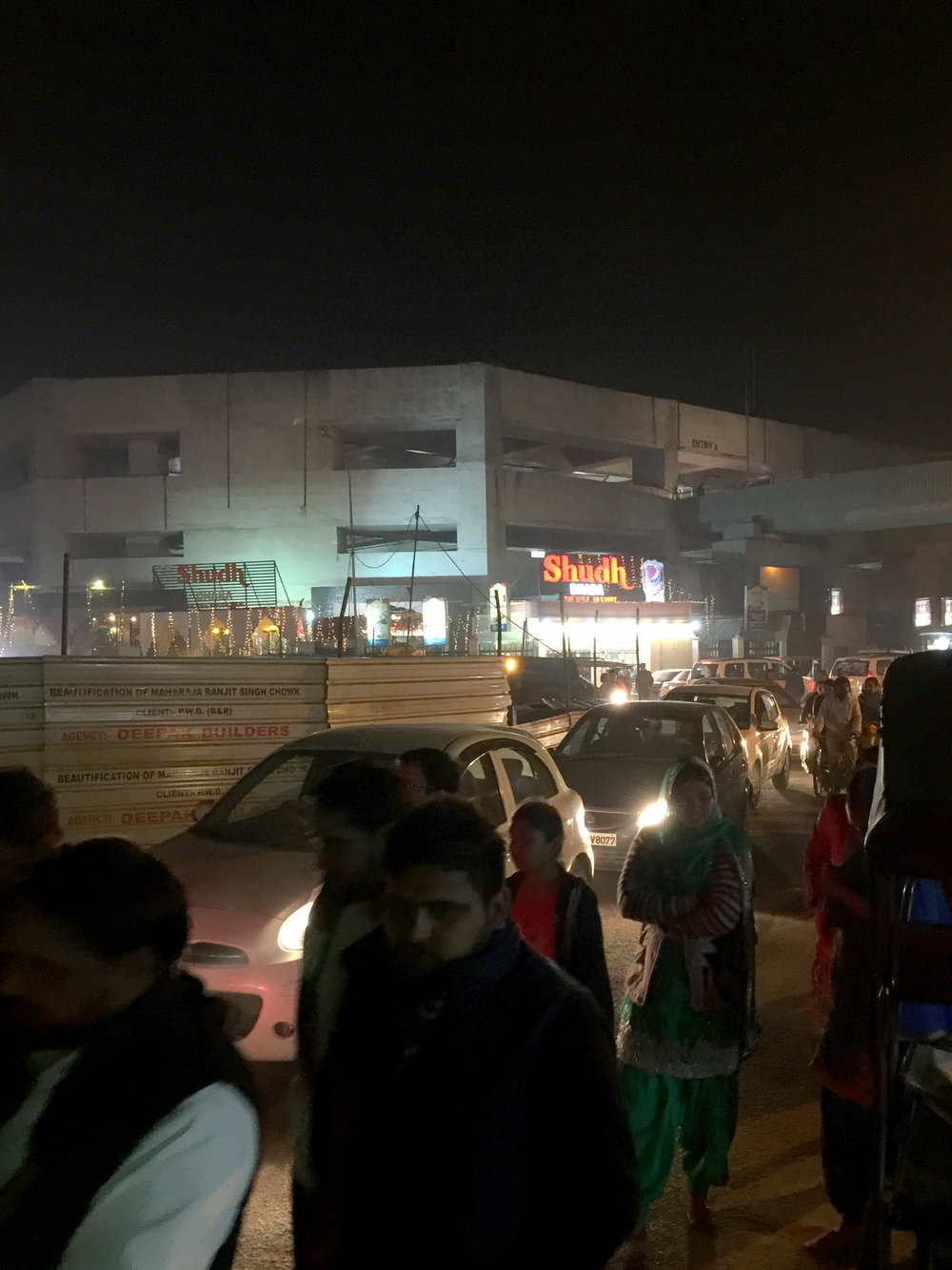 Congested roads in Amritsar.  (Image taken with iPhone 6+)