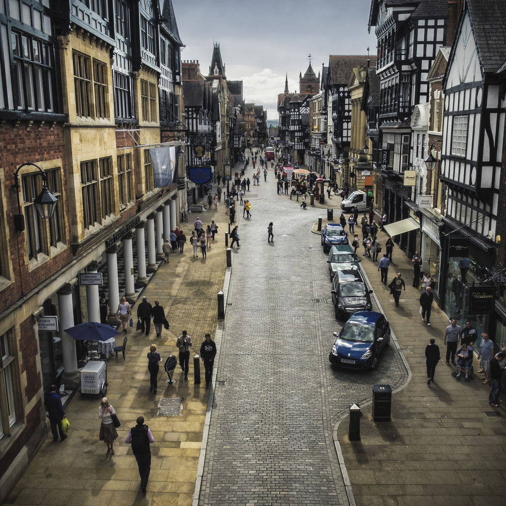 The beautiful city centre of Chester