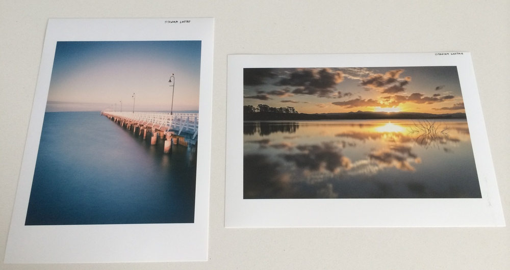 Shorncliffe Pier and Lake Samsonvale prints on Titanium Lustre