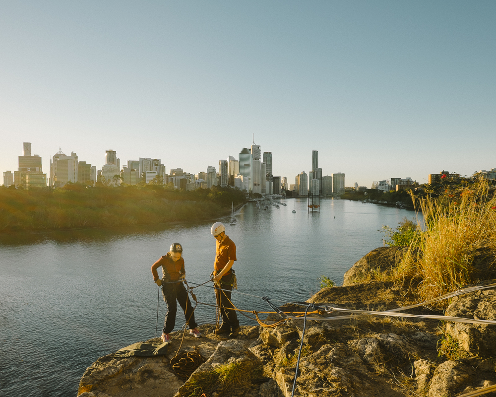 Climbers at Kangaroo Point, Brisbane