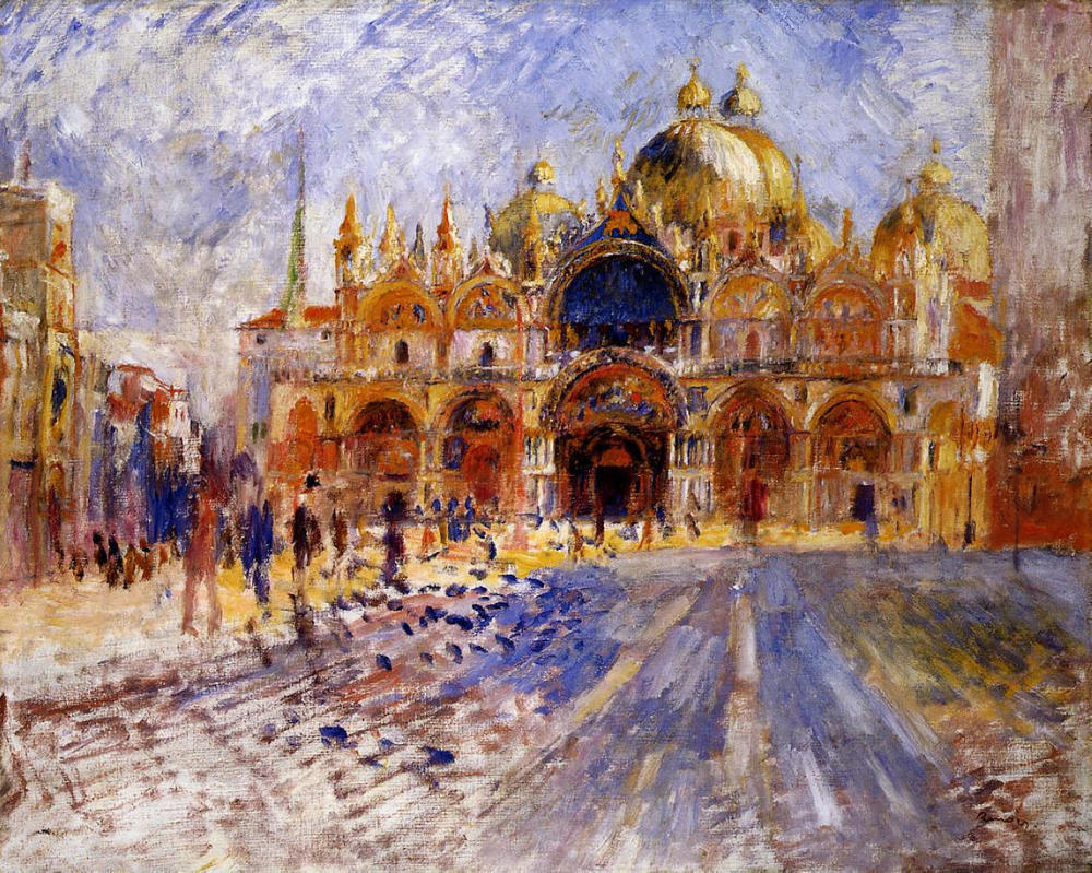 """The Piazza San Marco"" Pierre-Auguste Renoir, 1881"