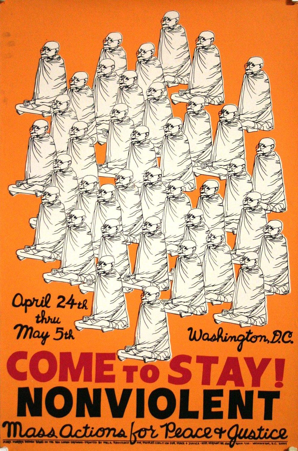 Mayday demonstration poster, Washington DC (1971)