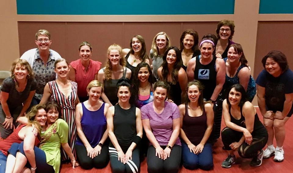 "Rehearsing the ""Dreamgirls"" number featuring several decades' worth of VT leading ladies and dance captains!"