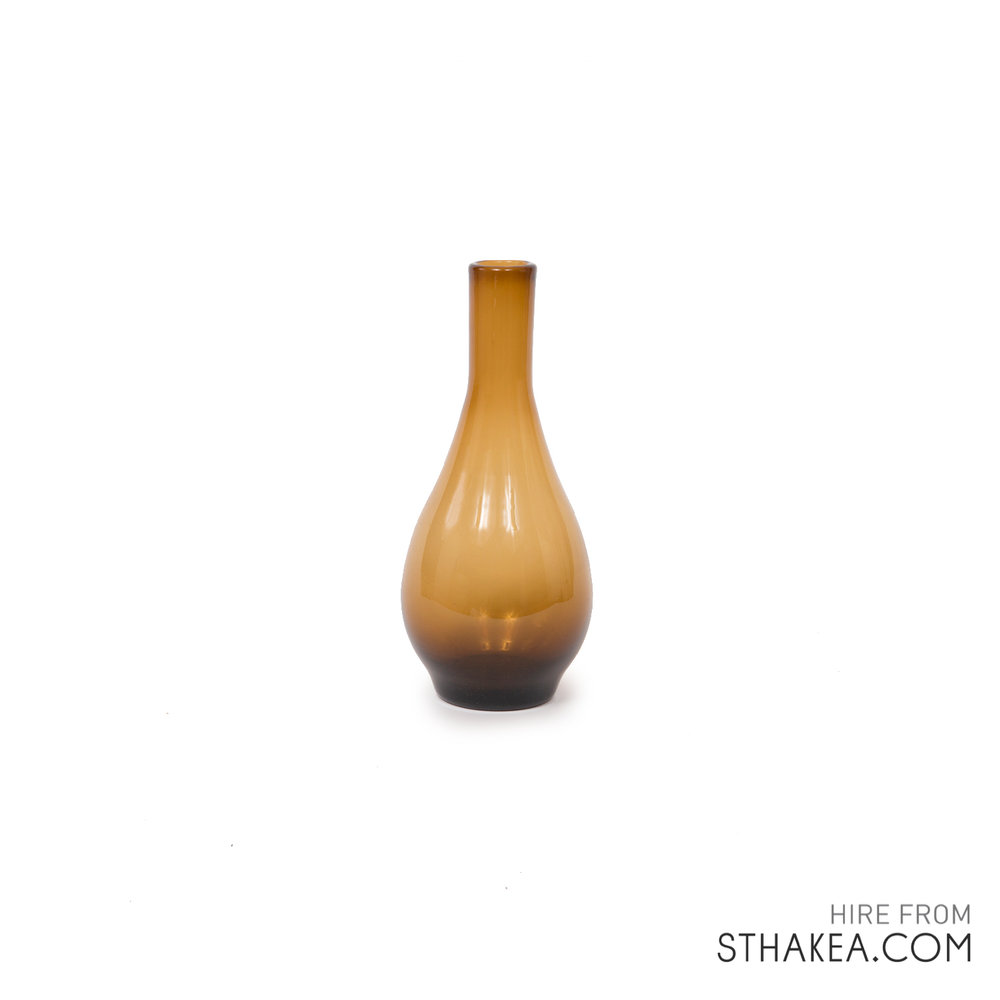 St Hakea Melbourne Hire Skinny Amber Bulb Vase.jpg