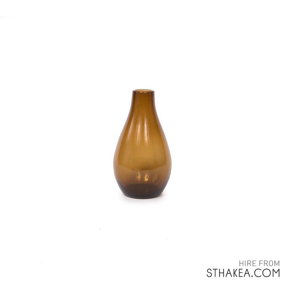 St Hakea Melbourne Hire Small Amber Bulb Vase.jpg