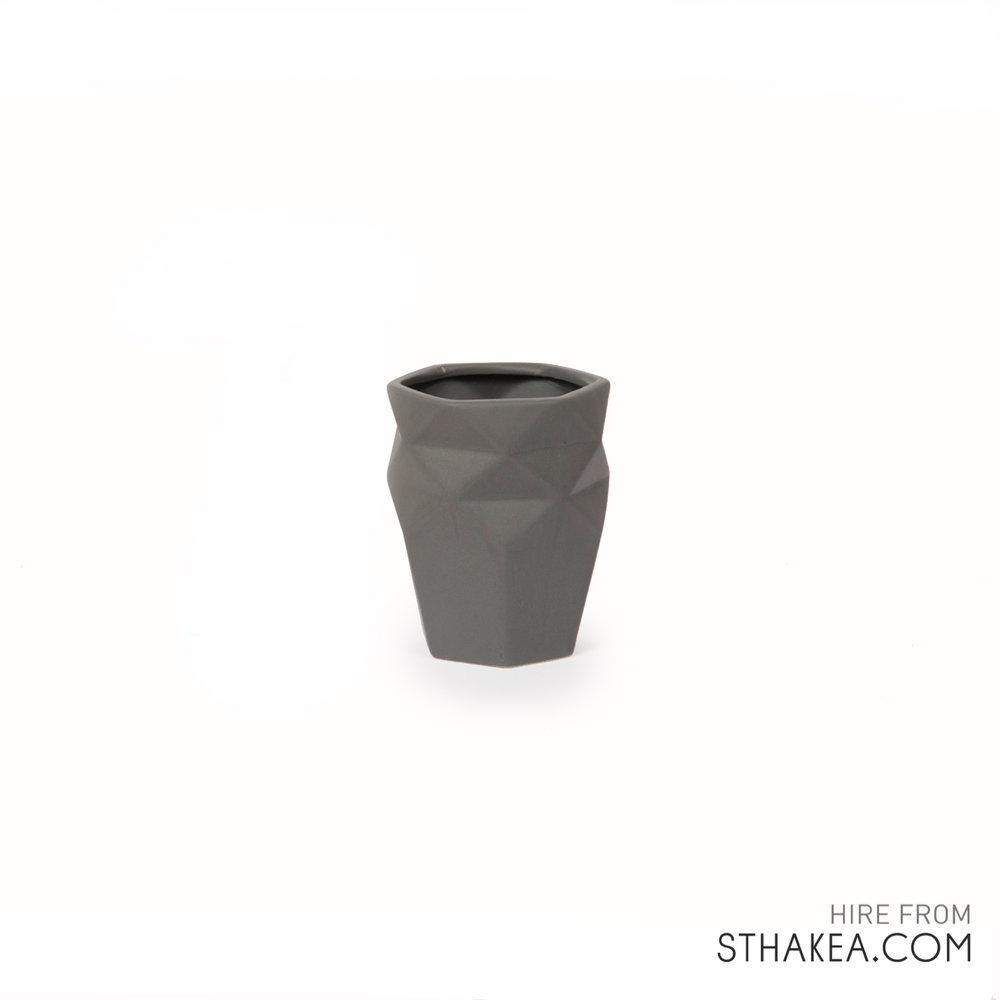 St Hakea Melbourne Hire Grey Origami Vase .jpg