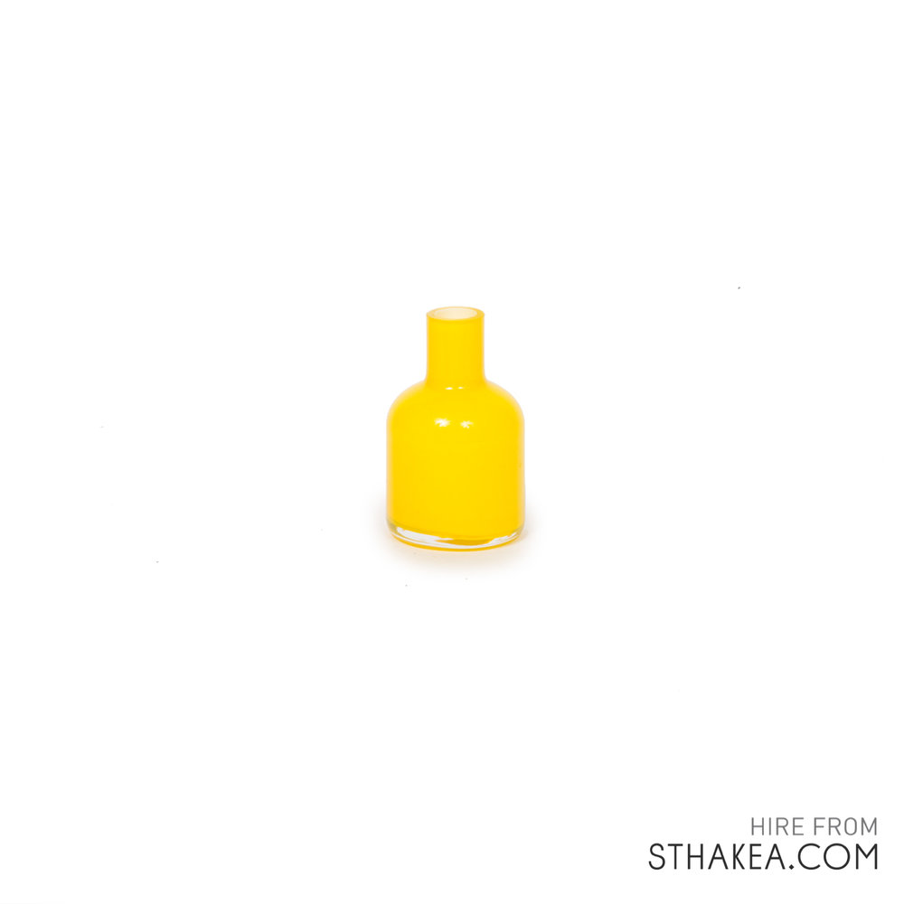 St Hakea Melbourne Hire Yellow Coloured Bud Vase.jpg