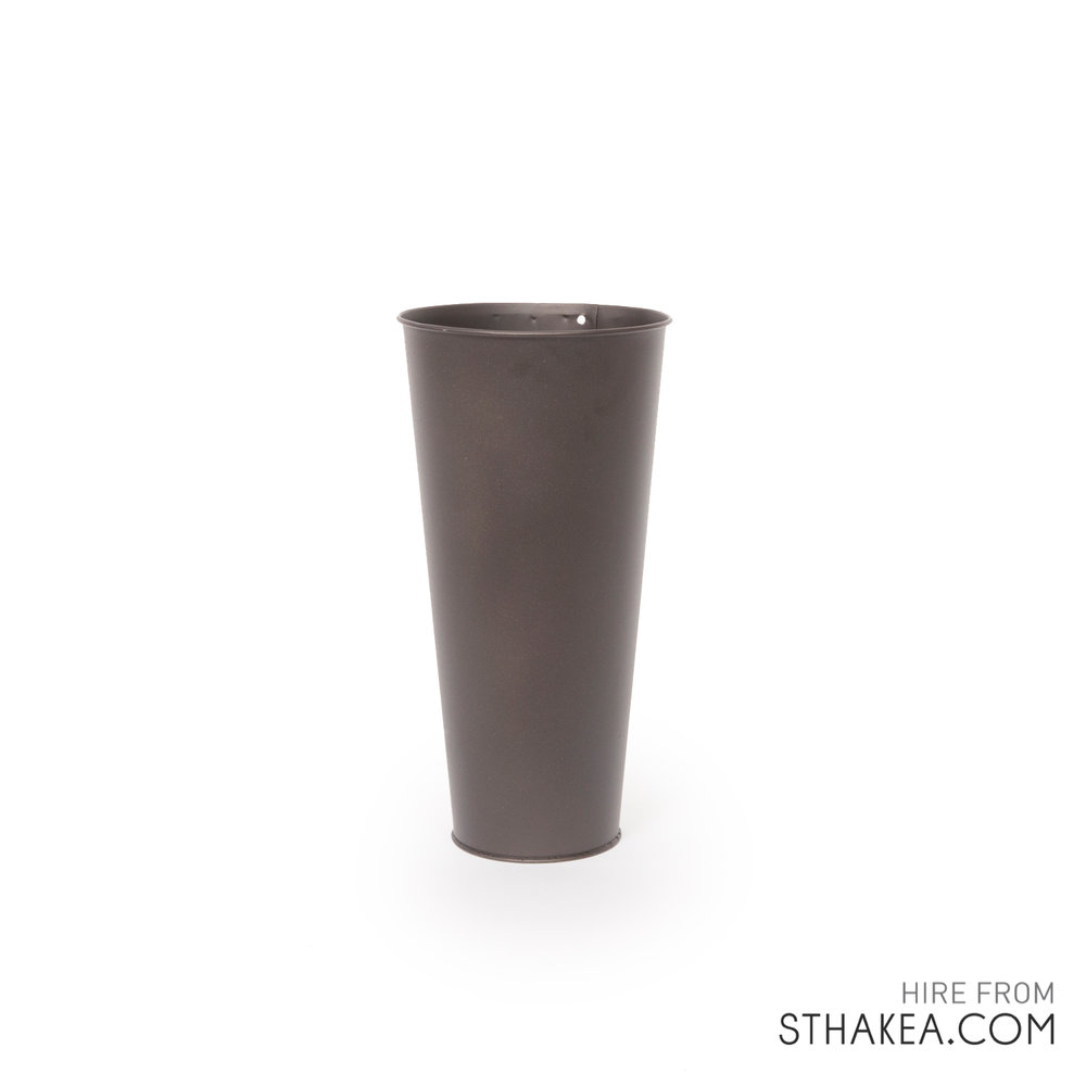 St Hakea Melbourne Hire Bark Tin Vase.jpg