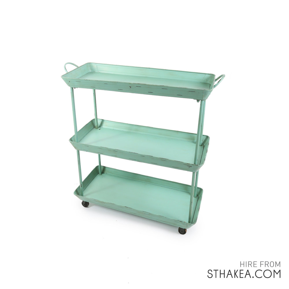 St Hakea Melbourne Event Hire Teal Drinks Trolly.jpg