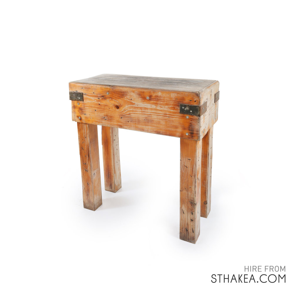 St Hakea Melbourne Event Hire Rustic Wood Cutters Console.jpg