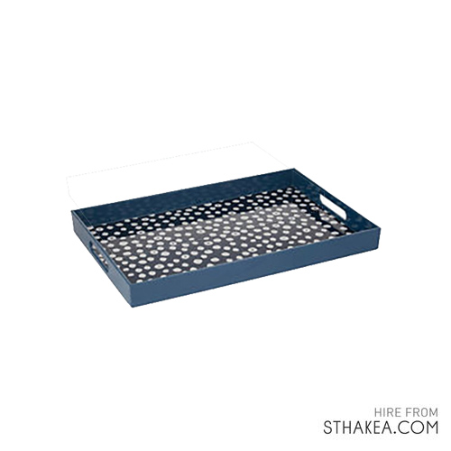 St Hakea Melbourne Event Hire Large Blue Dot Tray.jpg