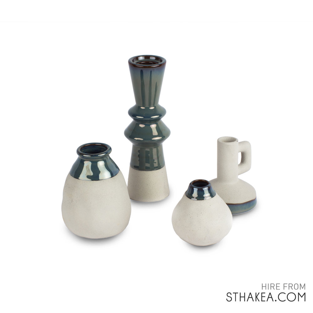 St Hakea Melbourne Event Hire Ceramic Candle Vase Set.jpg