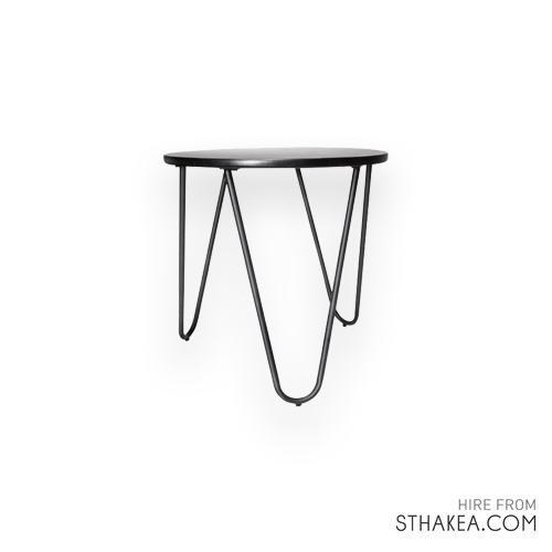 St Hakea Melbourne Event Hire Black Side Table.jpg