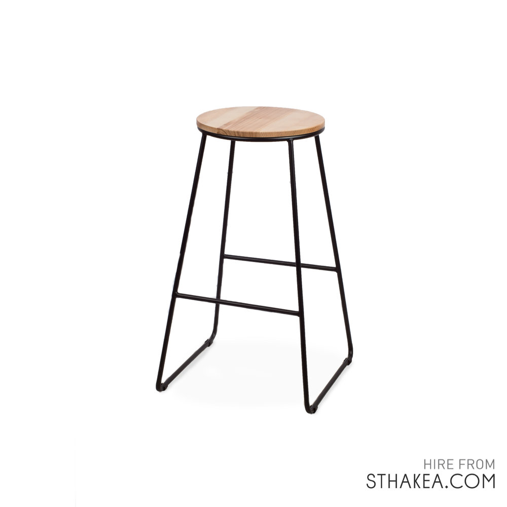 St Hakea Melbourne Event Hire Black Wire Bar Stool.jpg