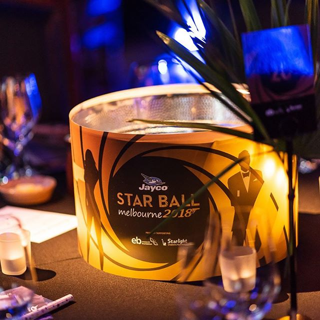 Our backlit ice bucket centrepieces for #melbourne's #casinoroyale #starball