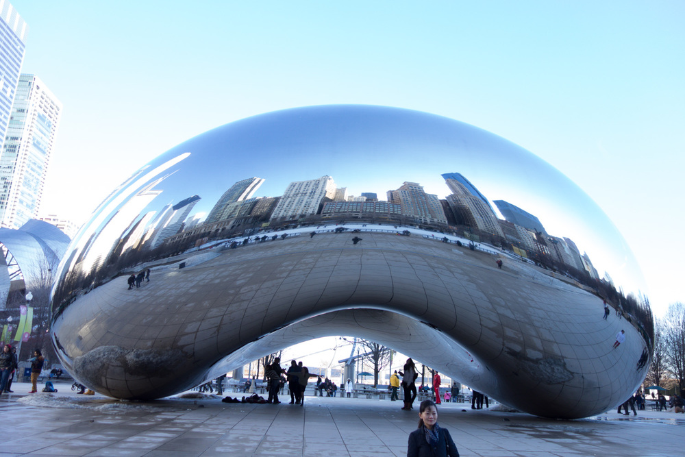 I've seen so many pictures of the bean, but it's so much more impressive in person. I could've spent a lot more time looking at it. It was a perfect day for it too!