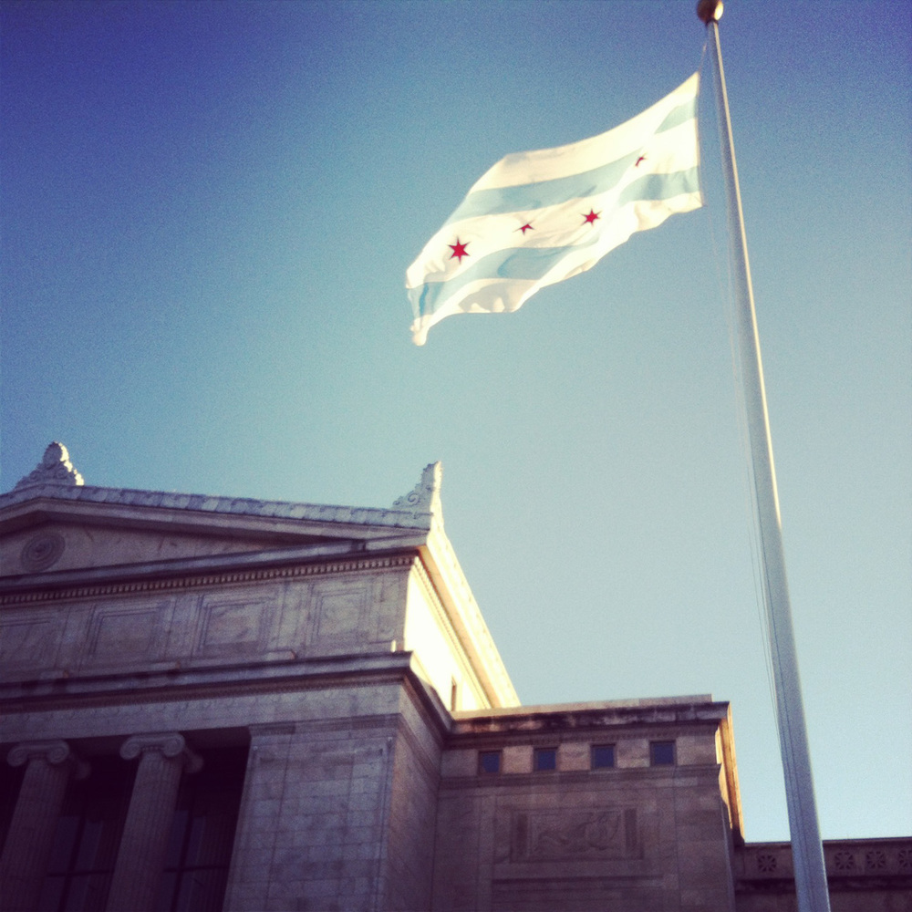 I think the city of Chicago flag is one of the best flags ever. Beautiful.