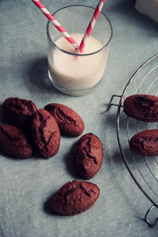 Financiers au chocolat // www.theflyingflour.com