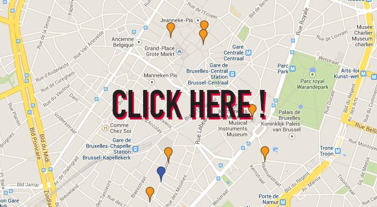 carte des bonnes adresses BRUXELLES