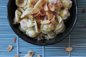 Orecchiettes Jambon Poireaux Amandes