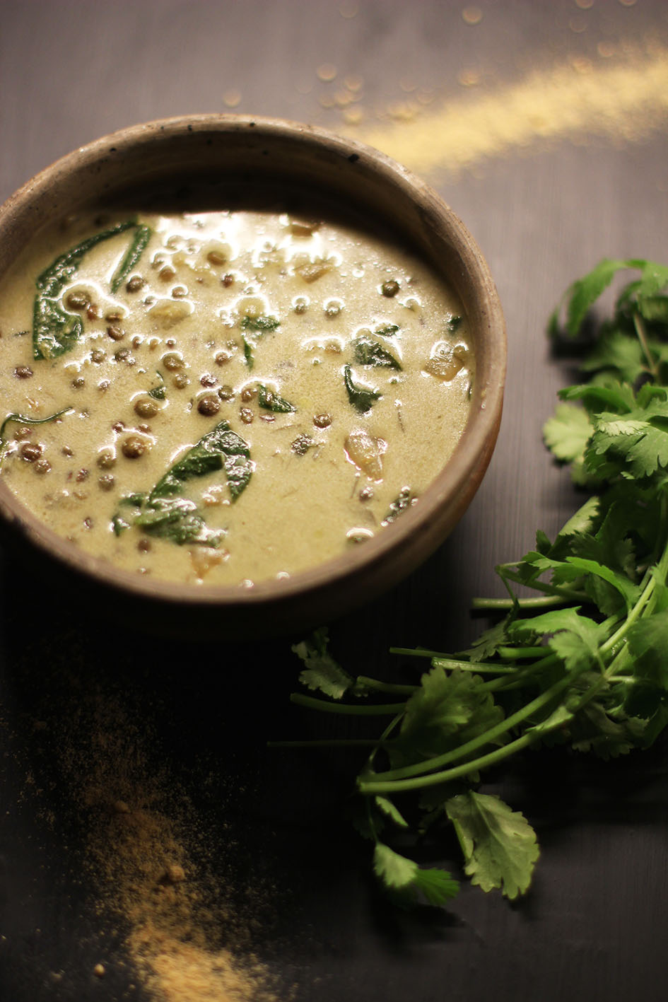 Soupe de lentilles lait de coco et epices | www.theflyingflour.com