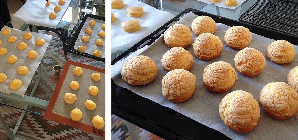 Choux au café ou choco-passion | www.theflyingflour.com