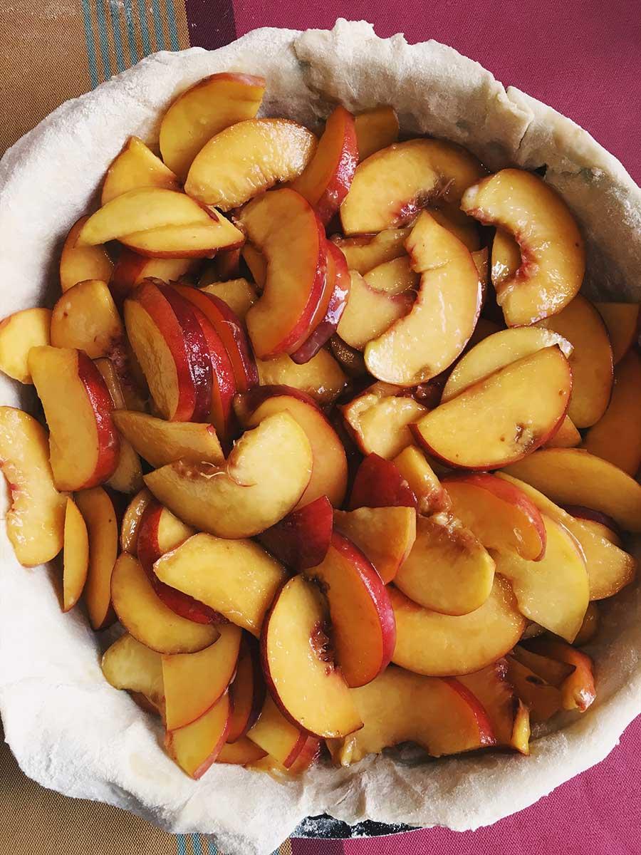 Peach Pie ©theflyingflour