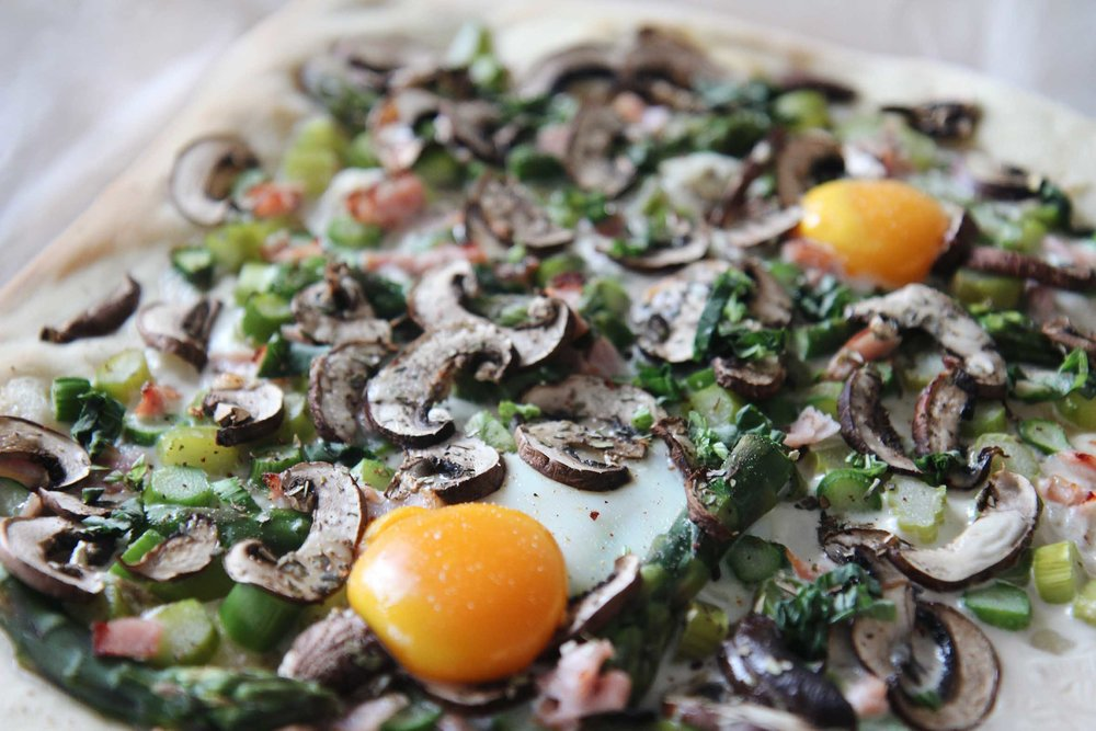 Spring Breakfast Pizza   © The Flying Flour
