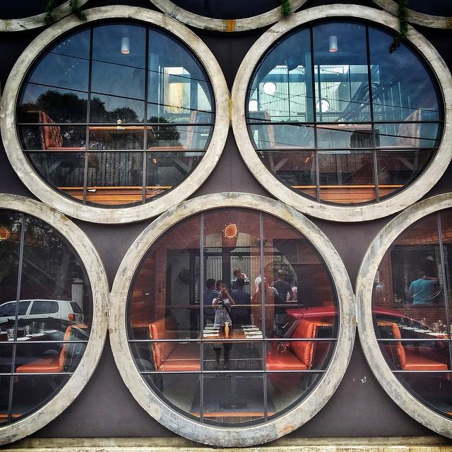 The Hobbit hole windows of the Prahran Hotel