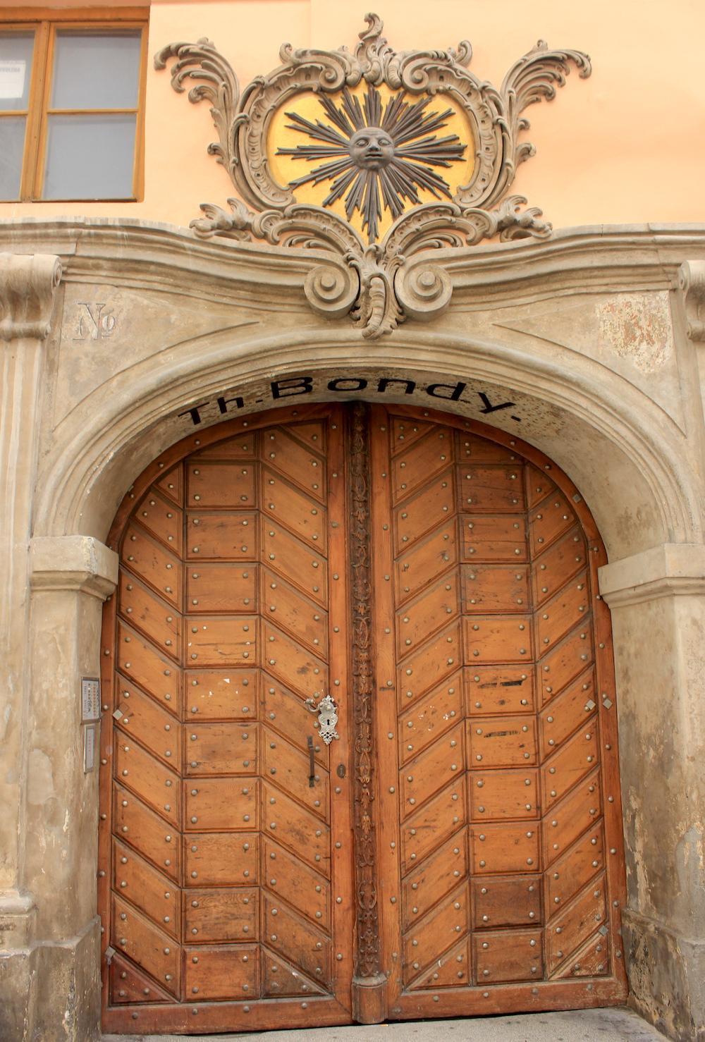 House sign on Celetná Street in Prague | Photo credit: Rose Spaziani