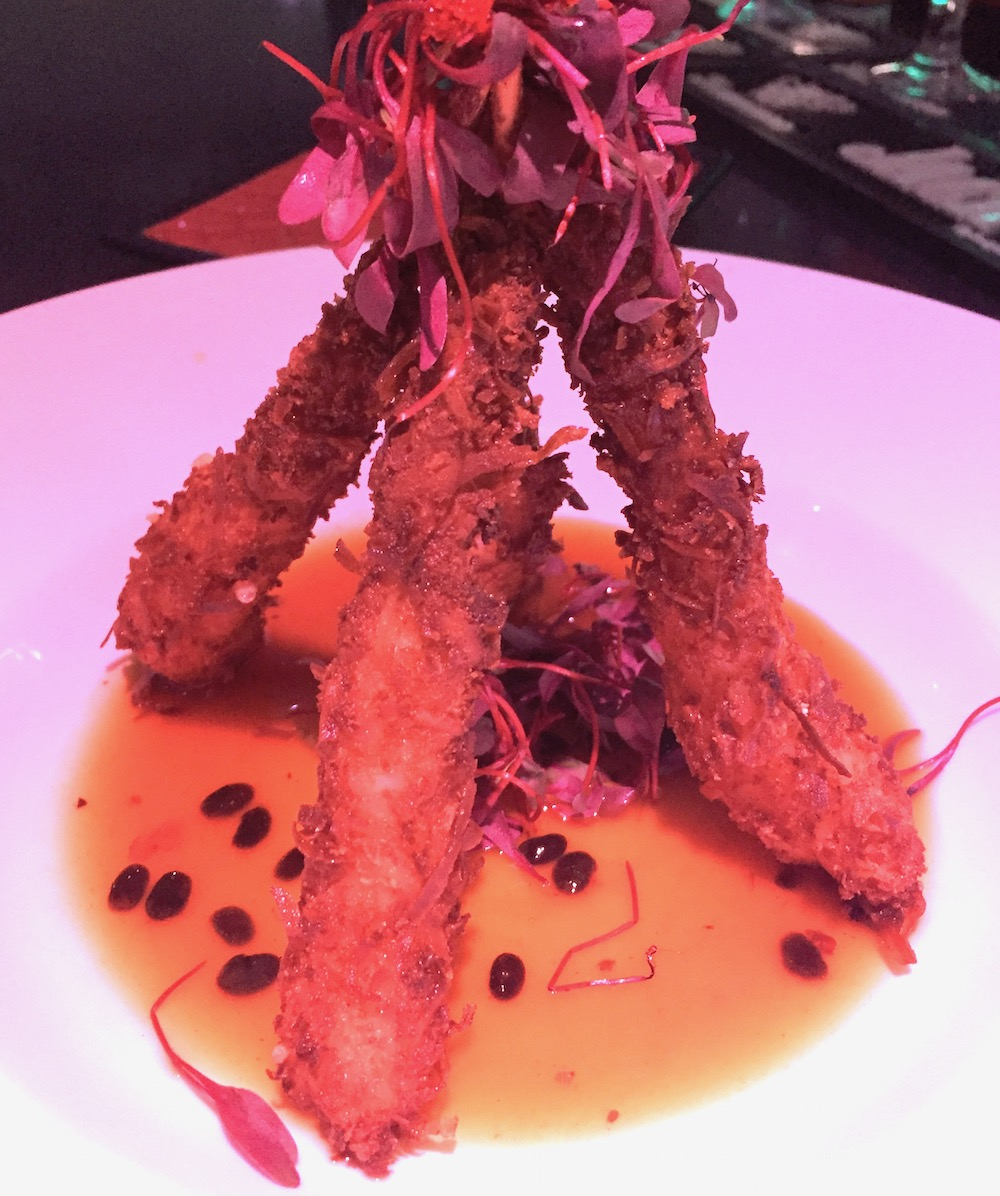 Coconut-dusted shrimp at MamaSushi | Photo credit: Rose Spaziani