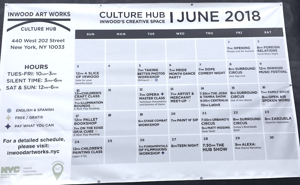 Culture Hub Calendar by Inwood Art Works | Photo credit: Rose Spaziani