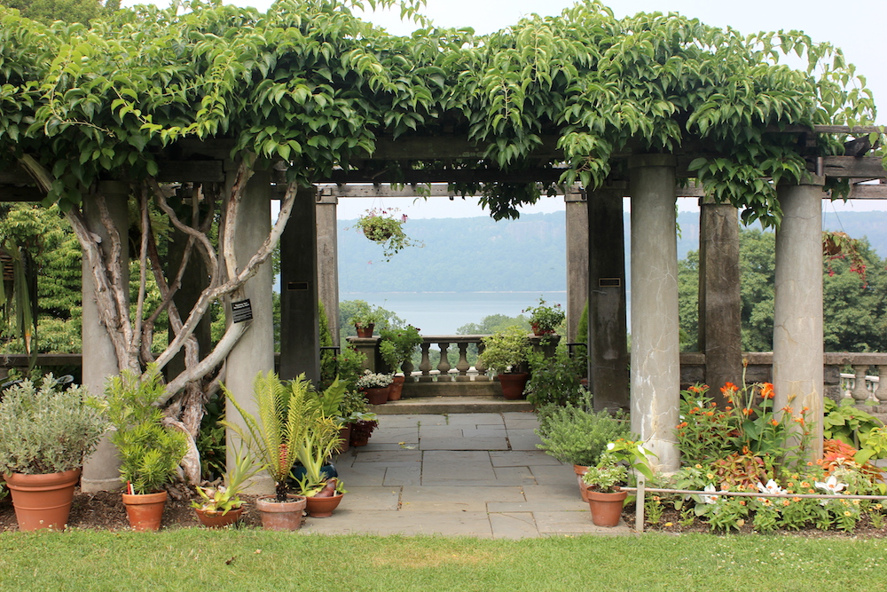 Overlook pergola at Wave Hill, Bronx, N.Y. | Photo credit: Rose Spaziani
