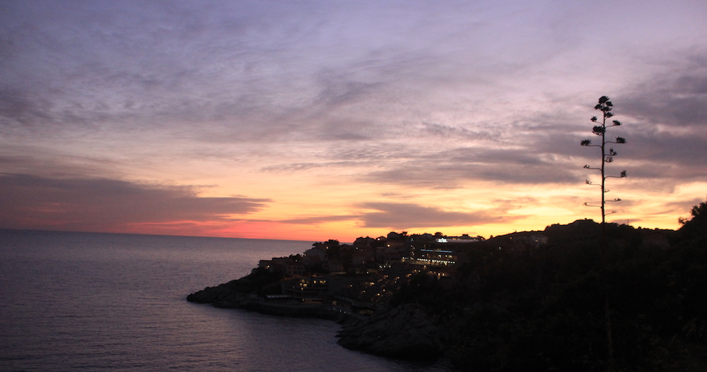 Sunset in Dubrovnik, Croatia | Photo credit: Rose Spaziani