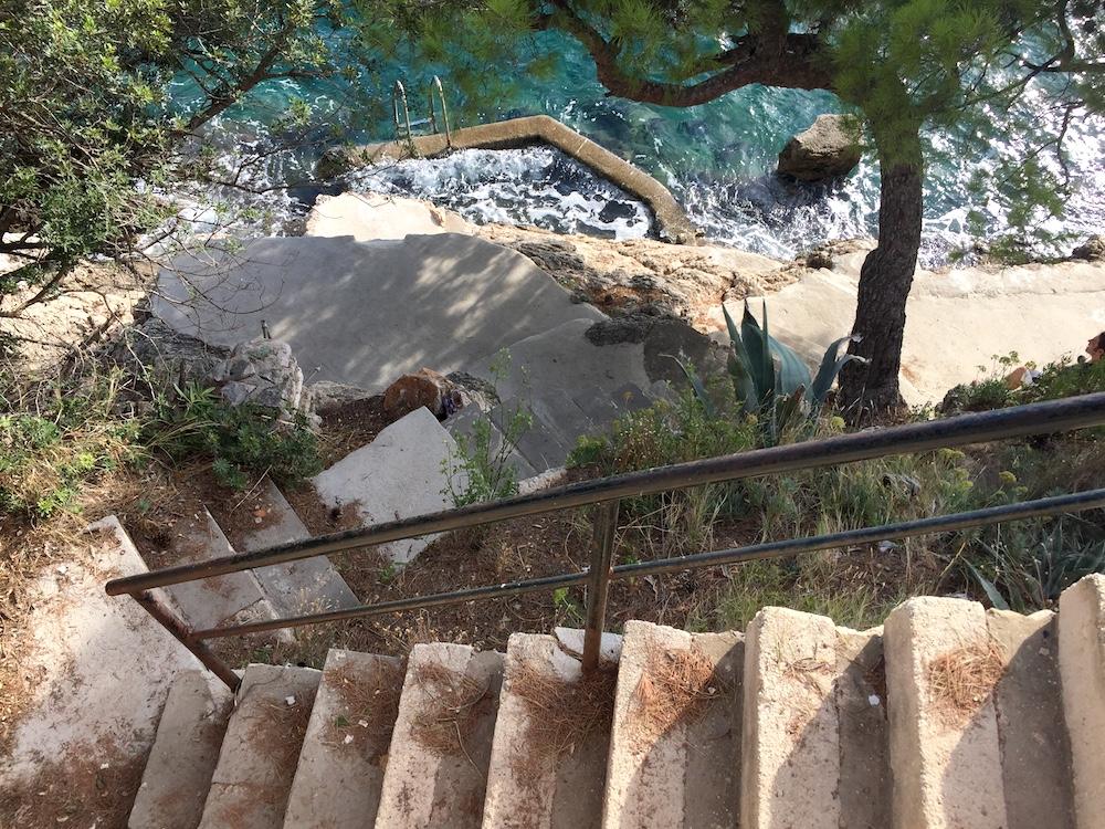 Steps to the beach in Dubrovnik, Croatia | Photo credit: Rose Spaziani