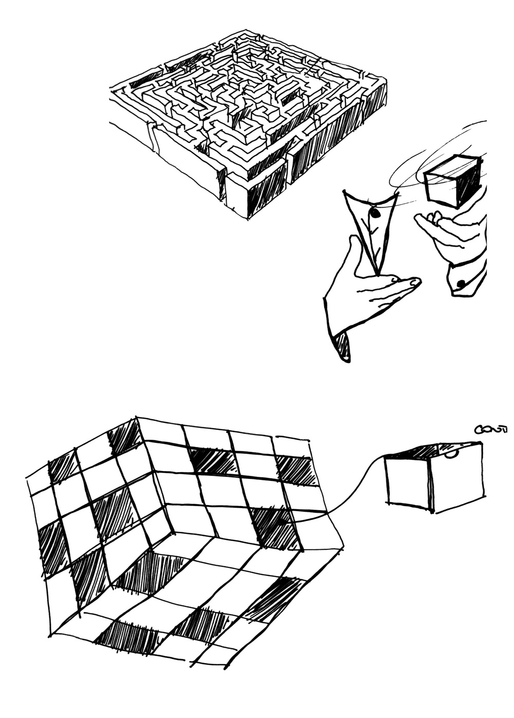 Solo Cube_Concept development sketch