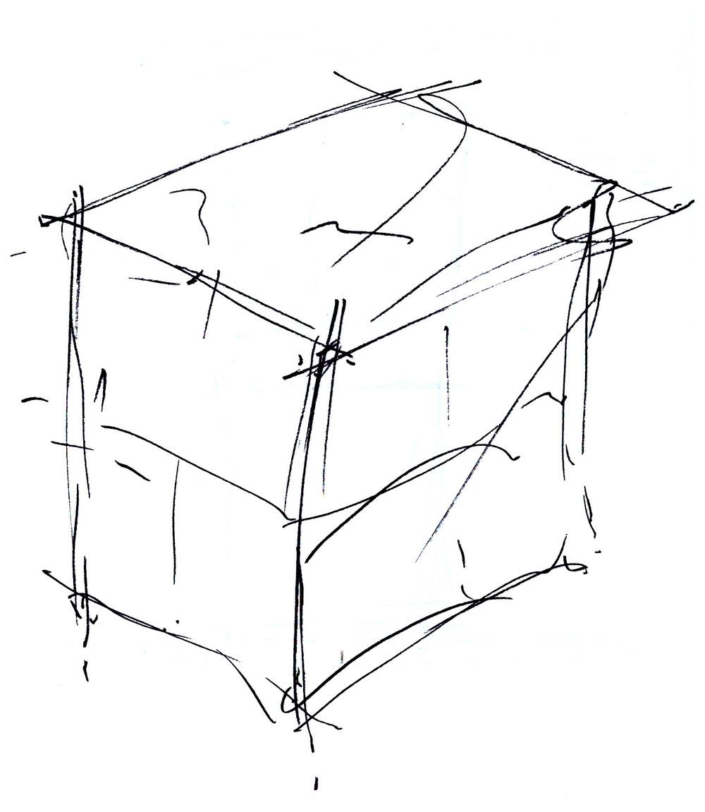 Solo Cube rough initial sketch