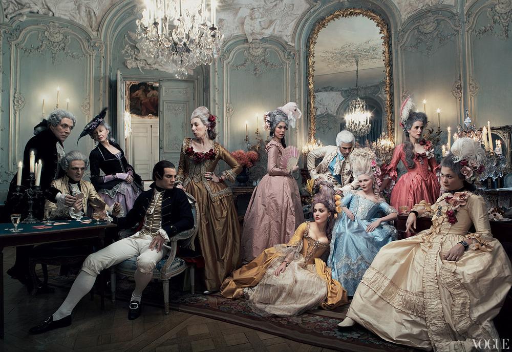 Marie Antoinette on Vogue. By Annie Leibovitz.