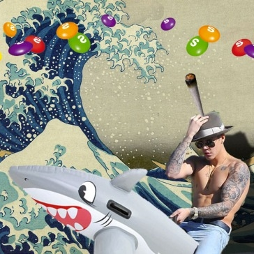 Photoshopped dreams. Hilarious.