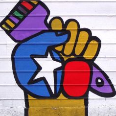HISTORY AND DESIGN - Chile's communist years in the 70s were powerfully reflected in all kind of arts. Colorful political murals started by Ramona Parra continue until nowadays.